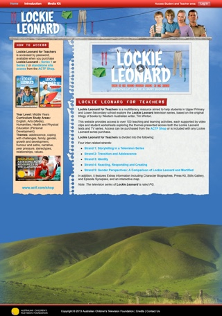 Lockie Leonard for Teachers - Website Access